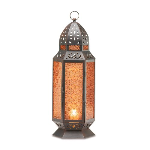 Gifts & Decor TALL MOROCCAN-STYLE CANDLE LANTERN