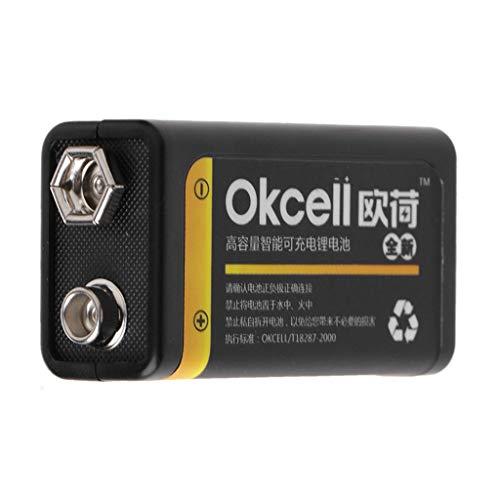siwetg Batería Recargable Lipo Micro USB De 9V 800mAh para Multímetro Micrófono Remoto