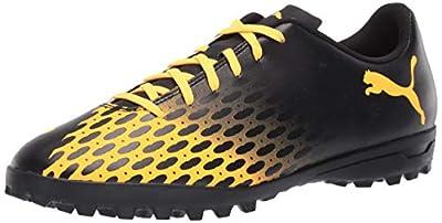 PUMA mens Spirit Iii Turf Trainer Sneaker, Puma Black-ultra Yellow, 10.5 US