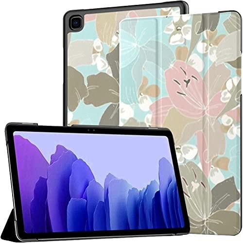 Funda para Samsung A7 2020 Floral Delicate Pastel Fit Samsung Galaxy Tab A7 10,4 Pulgadas 2020 Compatible con Galaxy A7 Funda Funda Tablet Funda de Cuero PU