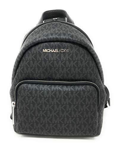 Michael Kors Erin Small Black Signature Leather Shoulder Backpack Black PVC…