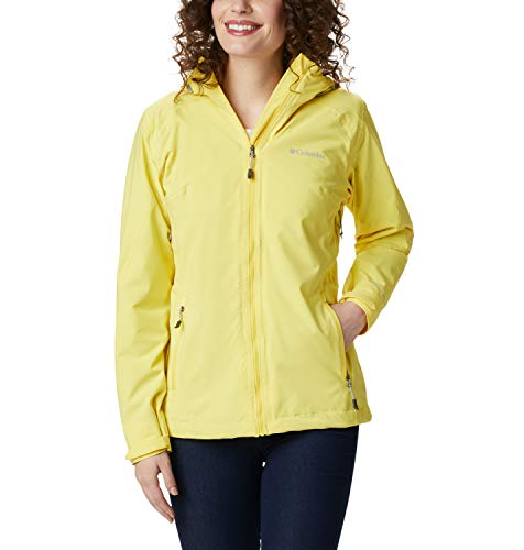 Columbia Trek Light Chaqueta Impermeable, Mujer, Amarillo (Buttercup), S