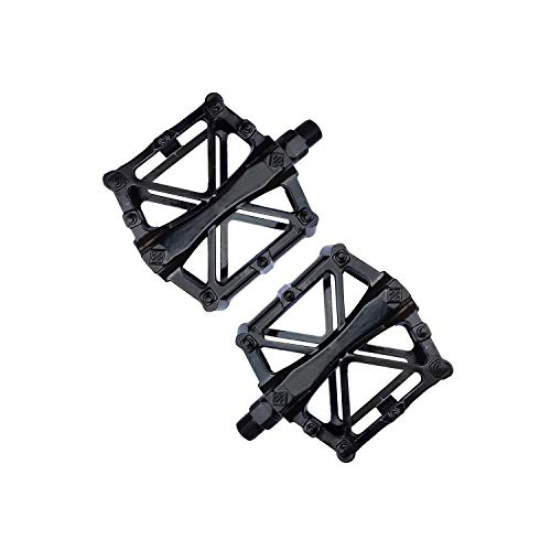 Buperor Bicycle Pedals 9/16' Adult Bike Pedals Aluminum Alloy Pedal with 16 Anti-Skid Pins Light Weight CNC Bearing Platform for Travel Mountain Road Bicycle Bike