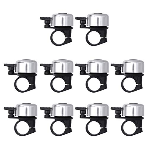 LIOOBO 10pcs Bike Bell Metal Bicycle Bell Cycling Ringing Bike Horn Ring Bike Accessories for Mountain Cycle Road Bike Random Color