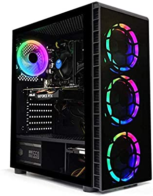 ADMI Gaming PC: i5 9400F 4.1Ghz SIX Core CPU/Nvidia RTX 2060 6GB / 16GB 2400MHz / 240GB SSD + 1TB HDD/RGB Case / 600 Wifi/Windows 10 by ADMI