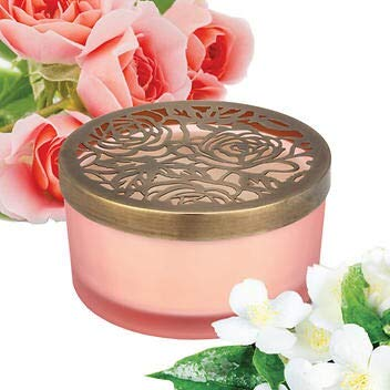 Luxury Candle Desert Bloom Fragranced 21 Ounce Soy Blend Candles Four Wick with Beautiful Colored Glass