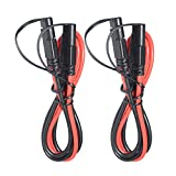 [ 2Pack] SPARKING 3FT 10AWG SAE to SAE Extension Cable 2Pin Bullet Quick Connect Heavy Duty Wire Harness with Waterproof Cap