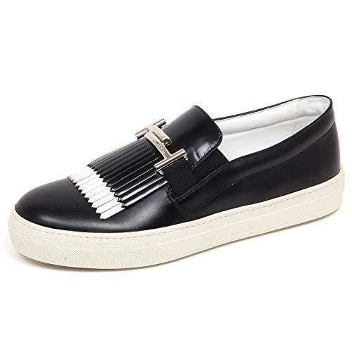 F6496 Sneaker Donna Black/White Tod'S Scarpe frangia Slip on Shoe Woman [39]