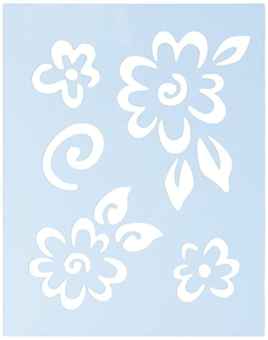 Faux Like a Pro Funky Flowers Wall Stencil, 5.5 by 7-Inch, Single Overlay