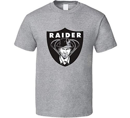 Raiders of The Lost Ark LA Raiders t-Shirt Cool Indian Jones Raiders Logo Spoof Camicie Nero XL
