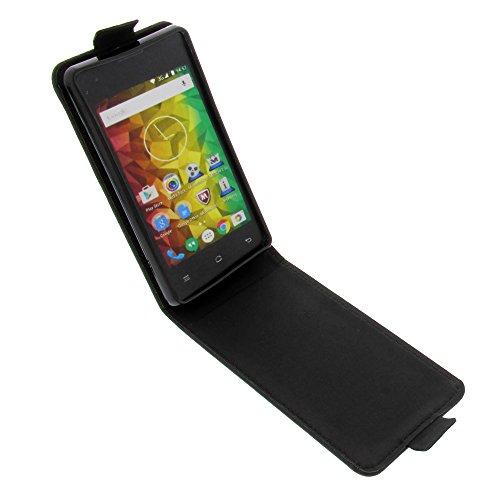 foto-kontor Tasche für MEDION Life E4005 Smartphone Flipstyle Schutz Hülle schwarz