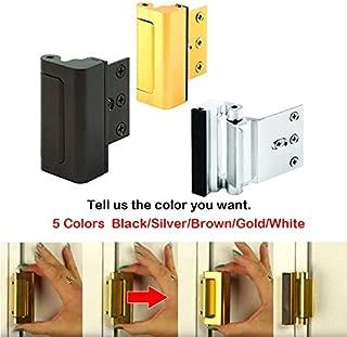   Door Stops   Set Aluminium Alloy U Door Reinforcement Lock Door Closer Defender Security Door Stopper   by SOMITI