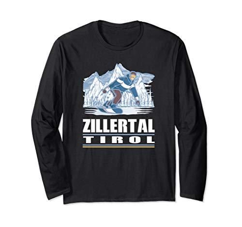 Zillertal Tirol - Apres Ski Snowboarden Snowboard Langarmshirt