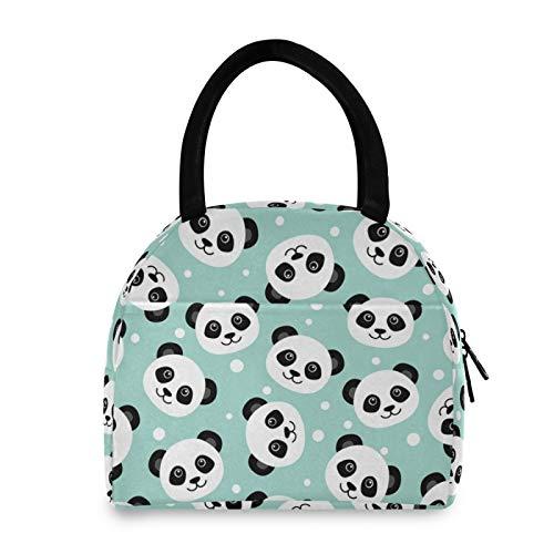 JinDoDo - Bolsa térmica para el almuerzo, diseño de panda