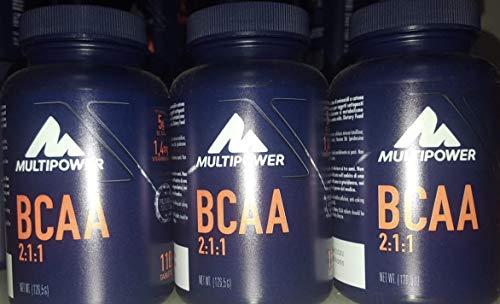 MULTIPOWER - 3 CONFEZIONI DI BCAA110 COMPRESSE amminoacidi ramificati