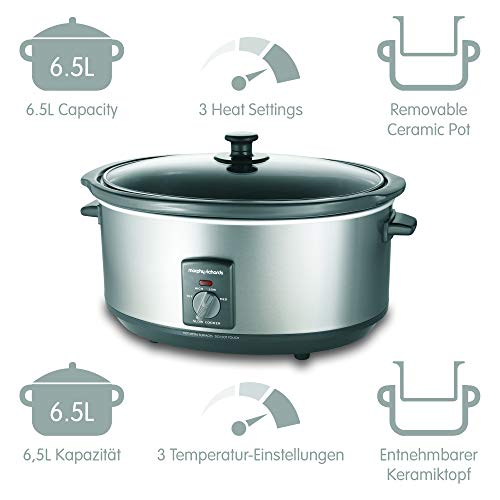 Morphy Richards – 6.5L Silver Slowcooker