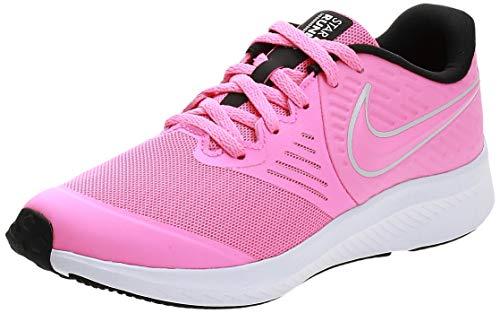 NIKE Star Runner 2 (GS), Sneaker, Pink Glow Photon Dust Black White, 36.5 EU