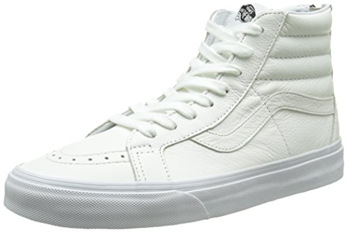 Vans Unisex-Erwachsene Sk8-Hi Reissue Zip Low-top, Weiß (Premium Leather/True White/Black), 47 EU