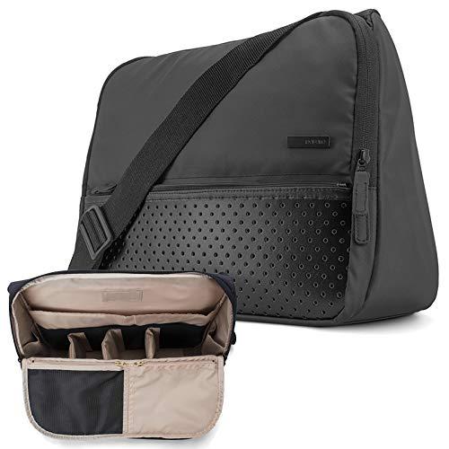 Laptop Bag 15.6 Inch Computer Messenger Bag Briefcase Crossbody Bag Laptop Shoulder Bag Stand Up Travel Organizer Bag for 14 15.4 inch Macbook Pro Macbook Air College Business Gym Men Women