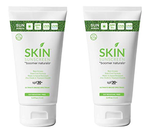 SKIN Sunscreen GOLF - 2018'Golf Digest' Editor's Choice for Best Sunscreen and Lip Balm! - Oxybenzone Free (3.4 Ounce Tube - Pack of 2)