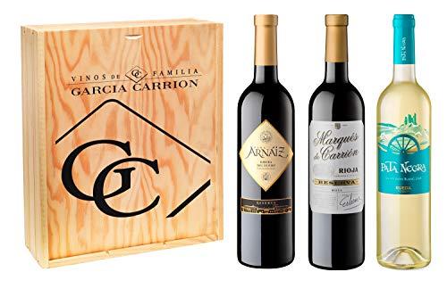 Pata Negra Lote de 3 Botellas, Marqués de Carrión, Viña Arnaiz y Pata Negra, Pack de 3 botellas x 75 cl