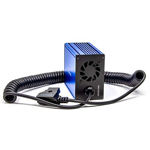 KONDOR BLUE Spark 150 D TAP to AC Power Supply Inverter 150W Mobile Wall Plug Outlet. Compatible with Godox Aperture Quasar T8 Crossfade LED Lights Laptop MacBook + More (P-TAP V Mount Battery) 110V