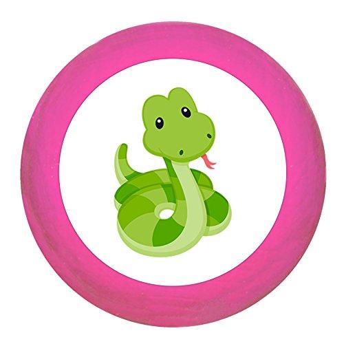 """Schrankgriff""""Schlange"""" pink Holz Buche Kinder Kinderzimmer 1 Stück wilde Tiere Zootiere Dschungeltiere Traum Kind"""