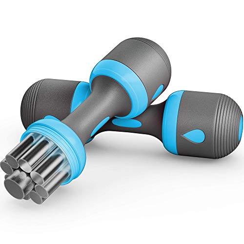 Well Thought Out Hantelset   1kg-5kg   für effizientes & gezieltes Muskeltraining   Hanteln mit austauschbarem Gewichte Set   Kurzhanteln aus Neopren & Edelstahl   das perfekte Fitnesszubehör