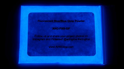 Fluorescent Blue Glow in The Dark Pigment Powder - 60g (2 Ounces) - 10+ Colors Available