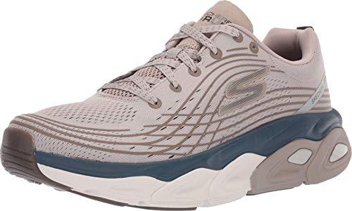 Skechers Men's Max Cushioning Ultimate-Stability Performance Walking & Running Shoe Sneaker, Natural/Navy, 10.5 4E US