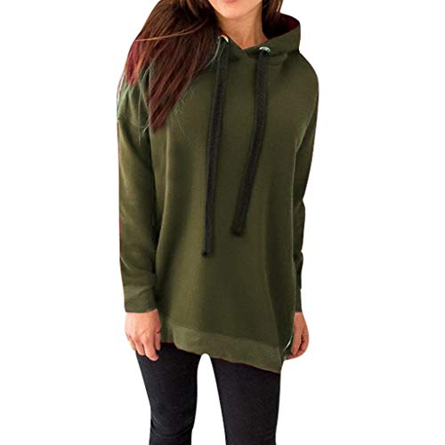 PYUIYY,Damen Reißverschluss Langarm Hoodie Sweatshirt mit Kapuze Pullover Tops Bluse Kapuzenpullover Mode Solid Color Kleider Hoodies Coat Hoody Sweatshirt