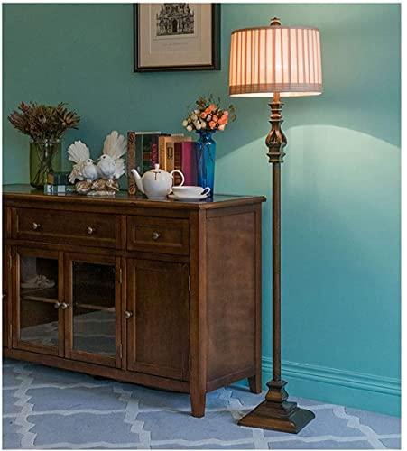 WEM Lámpara de pie con pedal, estilo retro europeo independiente para sala de estar u oficina