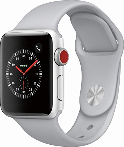 Apple Watch Series 3 (GPS + Cellular, 38MM) - Silver Aluminum Case with White Sport...