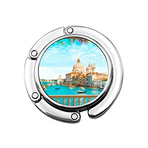 Hermoso balcón con Vista al Panorama Italiano de Venecia, Bolso Plegable, Gancho...