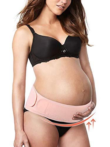 Schwanger Stützgürtel, Damen Während & Nach der Schwangerschaft Bauchband mit Verstellbarem Klettverschluss für Schwangerschaft Yoga