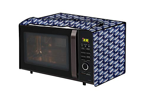 The Furnishing Tree Microwave Oven Cover for IFB 30 L Convection 30FRC2 Symmetric Pattern Blue