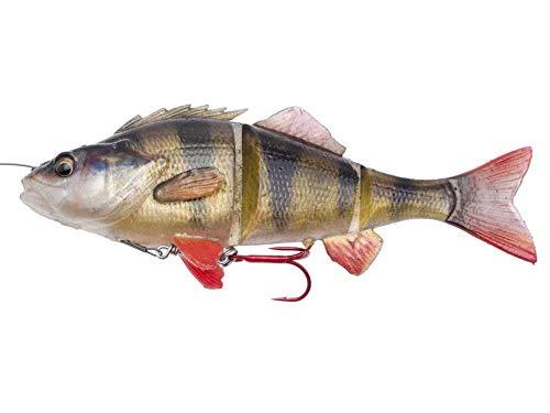 Savage Gear, pesce dig omma 4D Line Thru Perch, esca per la pesca a traino, esca per luccio, esca da pesca a spinning, Perch (Barsch), 23cm - 145g