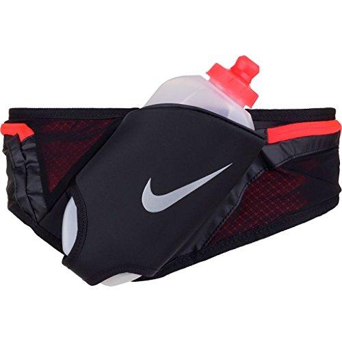 Nike Running Large 20 oz Flask Hydration Running Belt (Black/Crimson) Adjustable Unisex