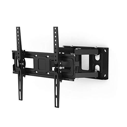 Hama TV Wandhalterung schwenkbar 160°, neigbar, ausziehbar (TV Halterung für Curved und Flat TV 32-65 Zoll, 2 Arme, Wandhalterung inkl. Fischer Dübel u. Kabelbinder, bis VESA 400x400, max. 40 kg)