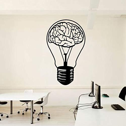 zhuziji Skye Wandaufkleber Gedicht , Brain Bulb Idee Zeichen Motival Inspirtaional S PVC Wasserdichter Hintergrund Restaurant, Korridor Wandtattoos25x42cm