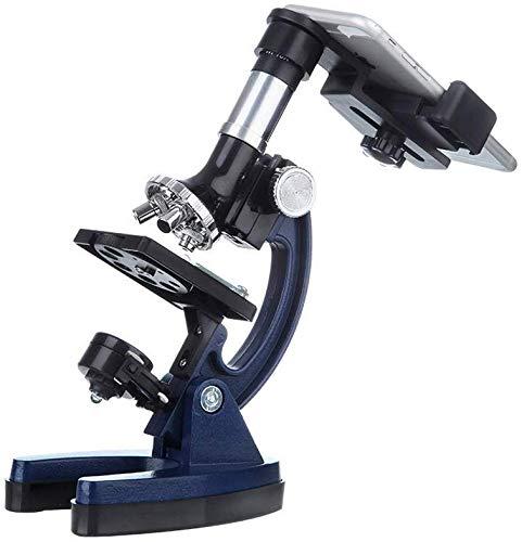 Los niños microscopio ampliación microscopio óptico de vidrio, para los niños microscopio científica de los estudiantes 1.200 veces de aumento, actualización de alta definición, la ciencia microscopio
