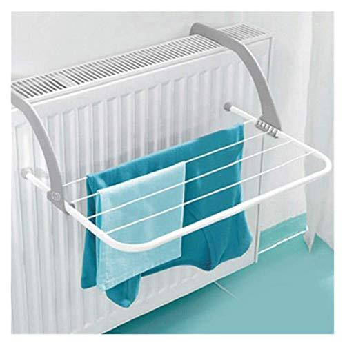 Doblada Perchas Portátiles Plegable Decking Rack Cuarto de baño Al Aire Limpiodía Percha Balcón Secador de lavandería Secadora de zapatos Polo de la toalla Solador de pared de secado, Aireador plegabl