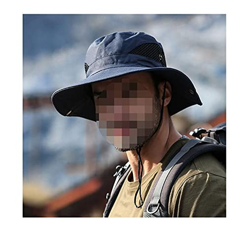 BVCDF Sombreros de Pesca Viajeros Ourtdes a pie Pescador Hombre Hombre Ancho Sombrero Sombrero Camping Hombres más Tamaño Cubo Sombrero Sun Cap 6 0CM Gorras de balde Gorra para el Sol