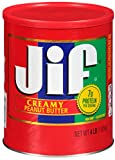 Jif Peanut Butter, Creamy, 64 Ounce, Pack of 6
