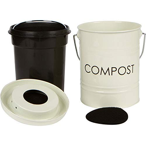 Find Bargain The Relaxed Gardener Kitchen Compost Bin (0.8 Gallon) - Rust Proof and Leak Proof - Bui...
