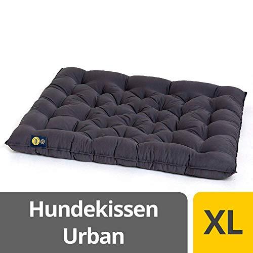 Dalstra Hundekissen Urban robuster waschbarer Hundeplatz, orthopädische Hundematte in grau Größe XL 70 x 60 x 5 cm