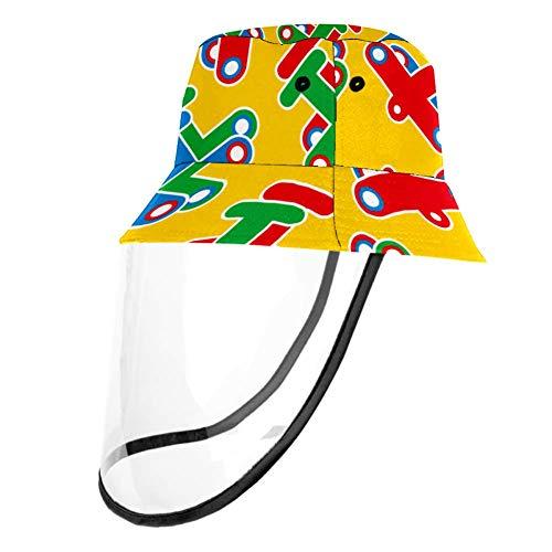 Visera con cubierta de plástico plegable ajustable para mujeres y niños Multicolor multicolor 57 cm