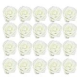 Artificial Flores Artificiales De Rose Ramo De Espuma De Látex Blanco Lechoso Dama De Honor De Bricolaje Floral Decoraciones De Boda 20pcs