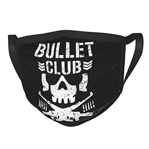 Bullet Club Women's Man Mouth Masks Adjustable Earrings Face Mask Black