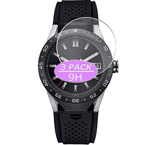 VacFun 3 Piezas Vidrio Templado Protector de Pantalla, compatible con TAG Heuer Connected 46 46mm, 9H Cristal Screen Protector Protectora Reloj Inteligente NEW Version
